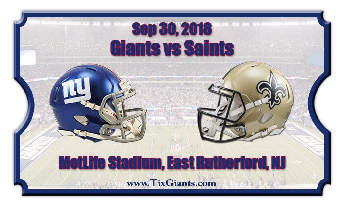 bed9ab156 2018 Giants Vs Saints. New York Giants vs. New Orleans Saints Tickets